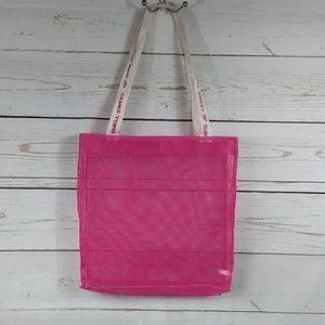 Roxy Bags - Roxy Hot Pink Mesh Beach Tote